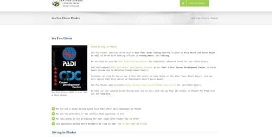 sea fun divers website